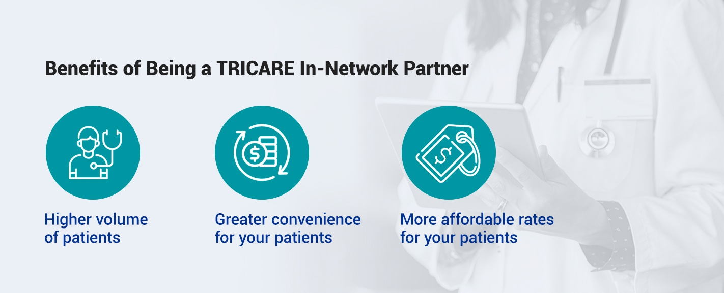 Benefits of Being a TRICARE In-Network Partner