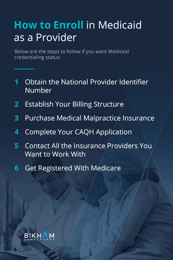 How to Enroll in Medicaid as a Provider